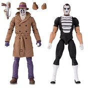 Doomsday Clock Rorschach and Mime (Watchmen) 2 Pack Action Figure