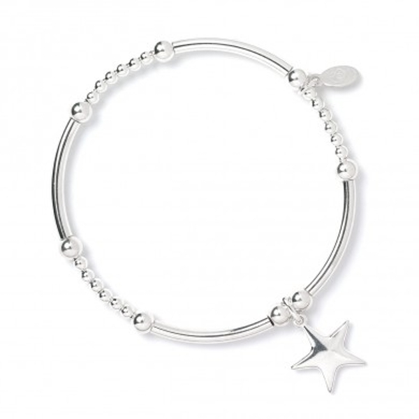 2e6a63f0c Hey! Stay with us... Heart Charm with Sterling Silver Ball & Noodle Bead  Bracelet