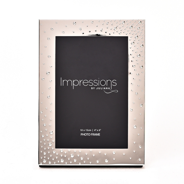 """Impressions Silver-Plated Corner Dots Photo Frame 4"""" x 6"""""""