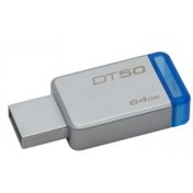 Kingston Technology DataTraveler 50 64GB 64GB USB 3.0 (3.1 Gen 1) Type-A BlueSilver USB flash drive