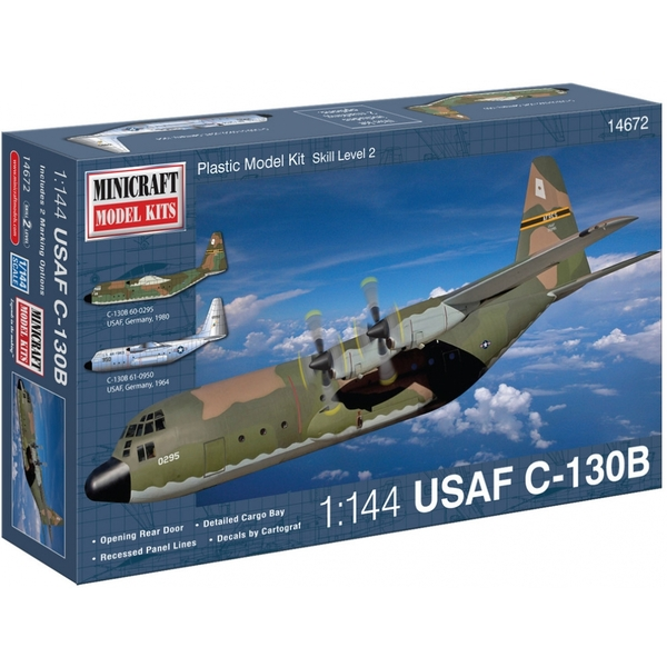 1:144 C-130B USAF with 2 Marking Options Model Kit