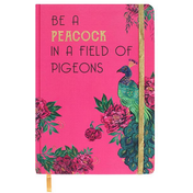 Luxury Turquoise Peacock Feather A5 Notebook