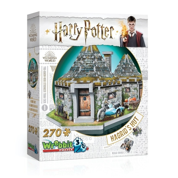 Wrebbit 3D Harry Potter Hagrid's Hut - 270 Pieces - Image 1