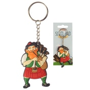 Scottish Piper (Pack Of 6) Novelty PVC Keyring