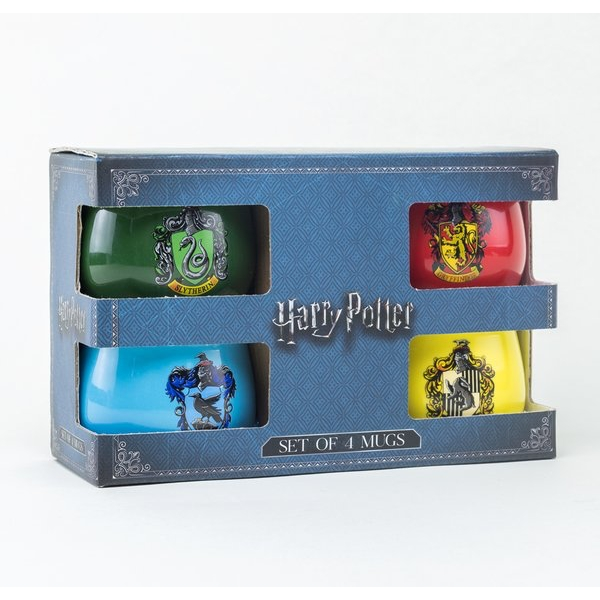 Harry Potter - House Crests Small Mugs Gift Set (Set of 4) - Image 1