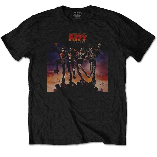 KISS - Destroyer Unisex Large T-Shirt - Black