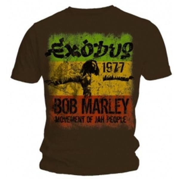 Bob Marley Bob Marley Movement Dark Brown T Shirt X Large