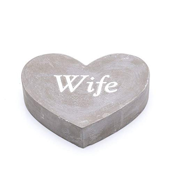 Thoughts Of You Graveside Concrete Heart - Wife