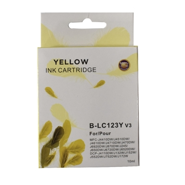 LC123Y Brother Compatible Yellow Replacement Ink