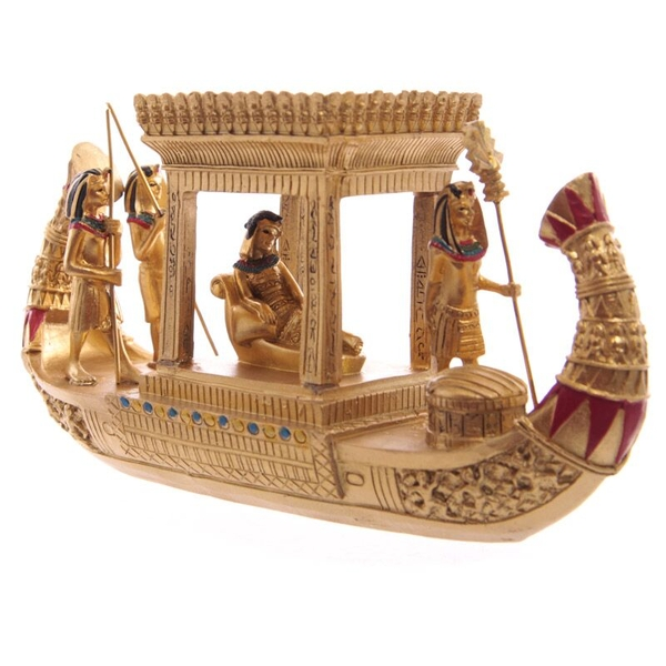 Gold Egyptian Canopy Boat