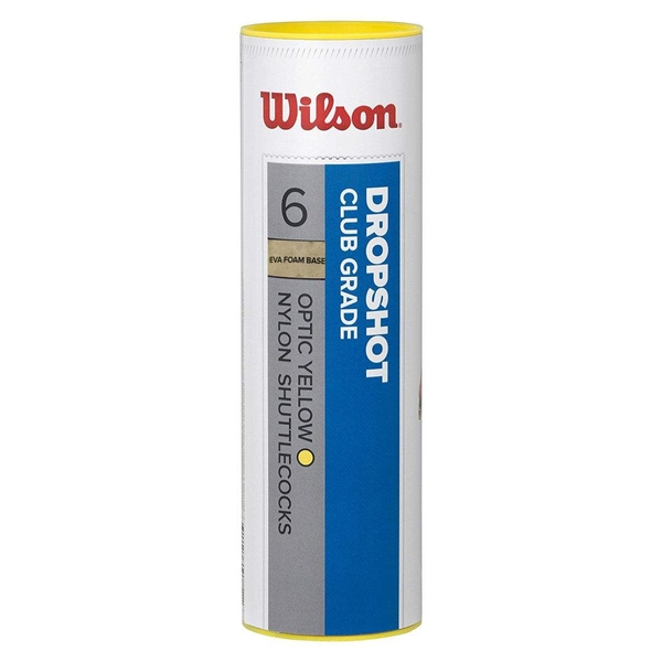 Wilson Dropshot Shuttle (Tube of 6) Yellow
