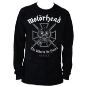 Motorhead Iron Cross Black Mens Long Sleeved T Shirt: Small