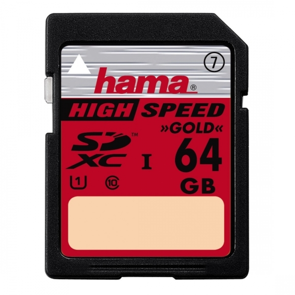 Hama High Speed Gold Flash memory card 64 GB Class 10
