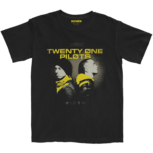 Twenty One Pilots - Back To Back Unisex X-Large T-Shirt - Black