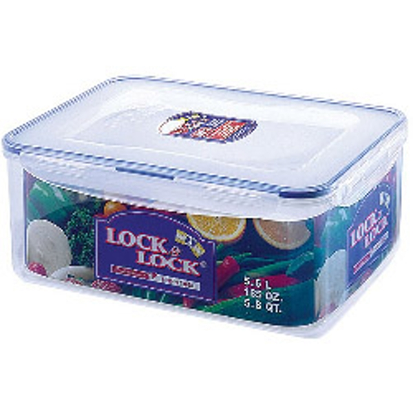 Lock & Lock Food Storage Container - Rectangular including Freshness Tray 5.5L (292 x 225 x 120mm)