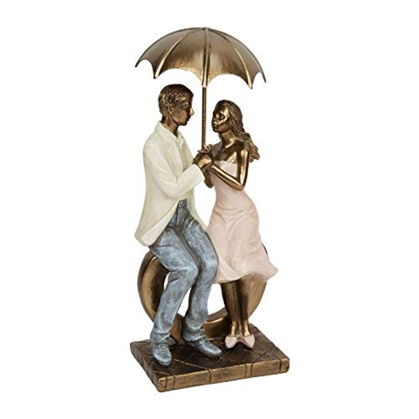 Rainy Day Collection Resin Figurine - Couple Sitting 26cm