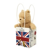 Classic Winnie The Pooh in Union Jack Bag