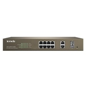 Tenda TEF1210P-8-150W 8-Port 10/100 Mbps Fast Ethernet + 2 Gigabit Web Smart Port PoE Switch