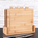 Bamboo Chopping Boards with Index Tabs - Set of 4 | M&W - Image 2