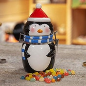 Earthenware Penguin Jar with 150g Jelly Beans