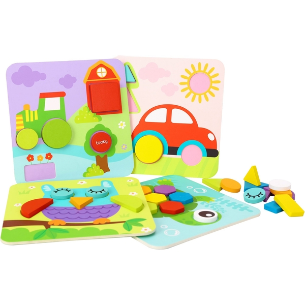 Wooden 4 In 1 Shape Puzzles
