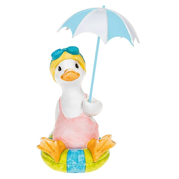 Lido Duck Sitting Blue Brolly Ornament