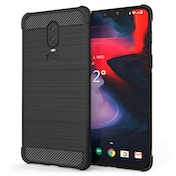 CASEFLEX ONEPLUS 6 CARBON ANTI FALL TPU CASE - BLACK