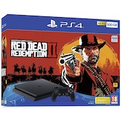 PlayStation 4 (500GB) Black Console with Red Dead Redemption 2