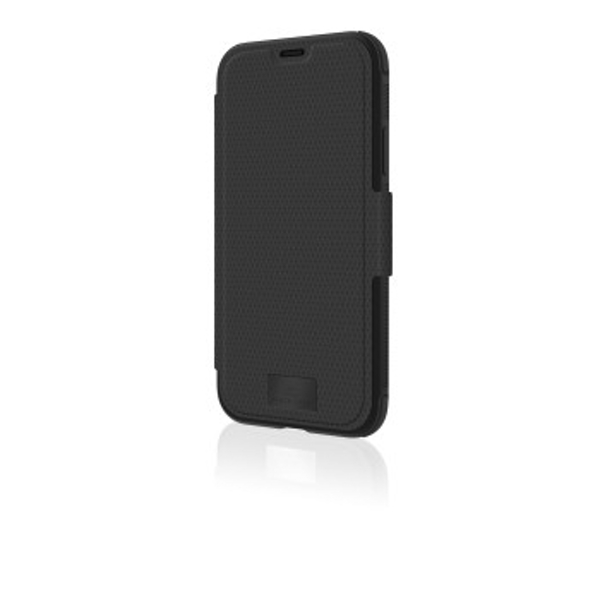 "Black Rock""Robust"" Protective Case for Apple iPhone 11 Pro, Magnetic Flap, Plastic, Perfect Protection at 180° or 360°, Black"