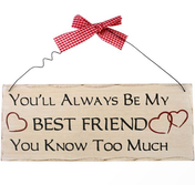 You'll Always Be My Friend Hanging Sign