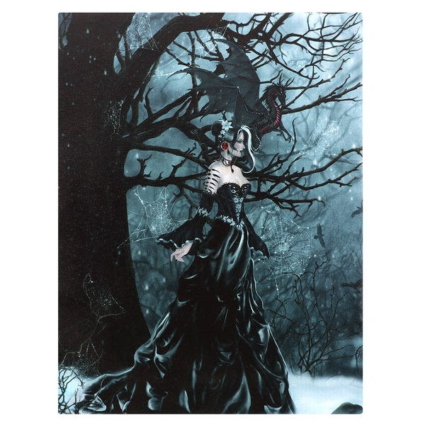 Queen Of The Shadow Canvas Plaque by Nene Thomas