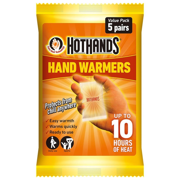 Hot Hands Hand Warmers - Pack of 5 Pairs