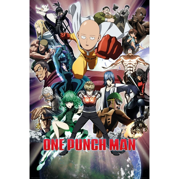 One Punch Man Group Maxi Poster