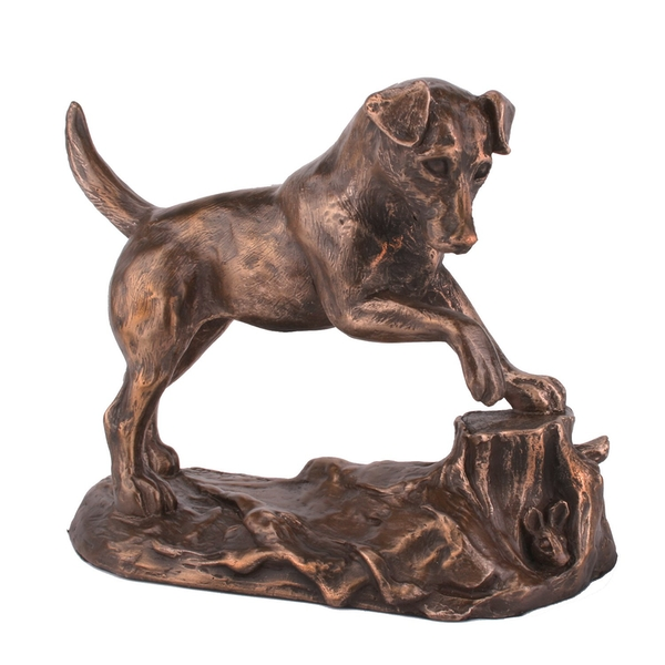 Jack Russell by Harriet Glen Cold Cast Bronze Sculpture 16.5cm