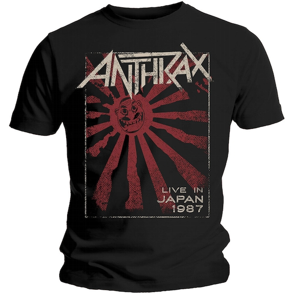 Anthrax - Live in Japan Unisex Small T-Shirt - Black