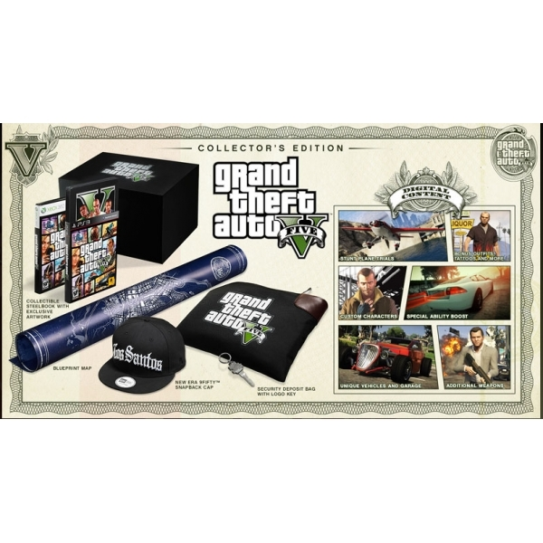 Grand Theft Auto GTA V (Five 5) Collector's Edition Game PS3 - Image 6
