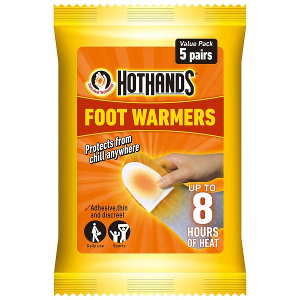 Hot Hands Foot/Toe Warmers - Pack of 5 Pairs