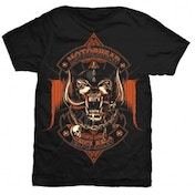 Motorhead Orange Ace Mens Black T-Shirt: Large