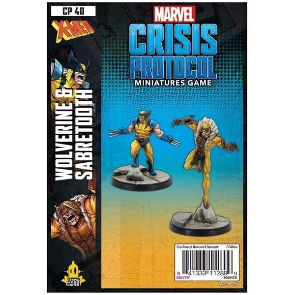 Marvel Crisis Protocol Miniatures Game - Wolverine and Sabertooth