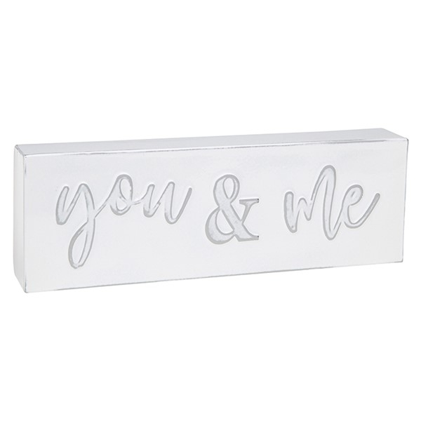 Homestyle Standing Metal Plaque You & Me