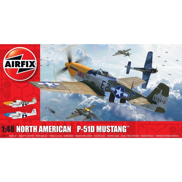 North American P51-D Mustang (Filletless Tails) Series 5 1:48 Air Fix Model Kit