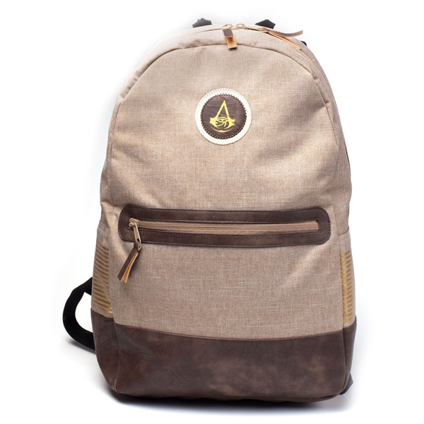 Assassin'S Creed - Crest Logo Adjustable Shoulder Straps Sports  Backpack - Tan/Brown