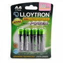 Lloytron B011 Rechargeable Accupower AA Ni-MH Batteries 800mAh 4 Pack
