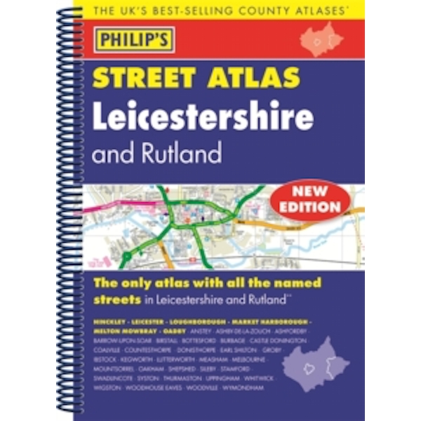 Philip's Street Atlas Leicestershire and Rutland by Octopus Publishing Group (Spiral bound, 2016)