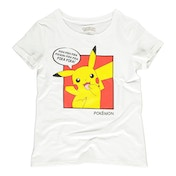 Pokemon - Pika Pika Pika PopArt Female Small T-Shirt - White