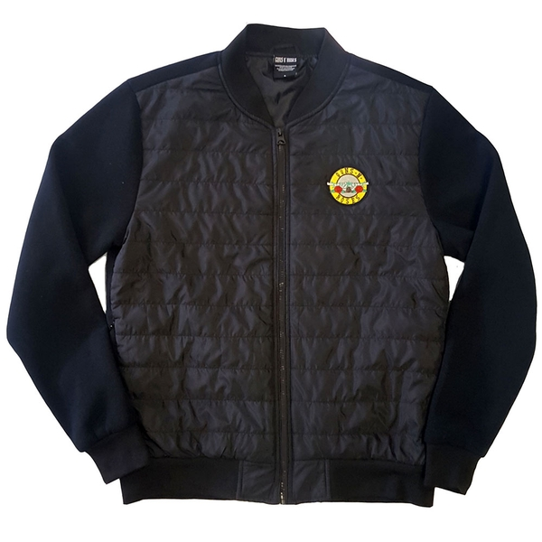 Guns N' Roses - Classic Logo Unisex Small Quilted Jacket - Black