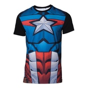 Captain America - Sublimation Men's Small T-Shirt - Multi-colour