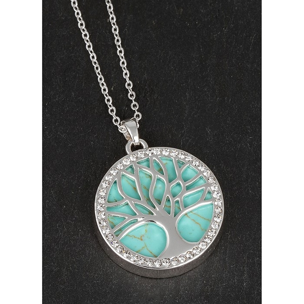 Equilibrium SP Turquoise Tree of Life Necklace