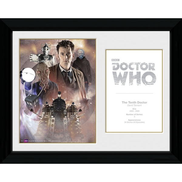 Doctor Who 10th Doctor David Tennant Framed Photographic Print