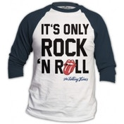 Rolling Stones Only Rock n Roll Mens White Raglan: X Large